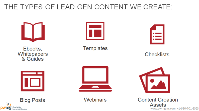 lead gen content we create